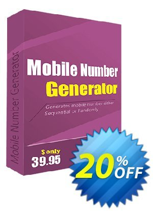 Mobile Number Generator Coupon, discount Christmas OFF. Promotion: amazing sales code of Mobile Number Generator 2020