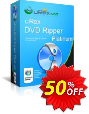 uRex DVD Ripper Platinum Coupon, discount 50% Off. Promotion: special discounts code of uRex DVD Ripper Platinum 2020