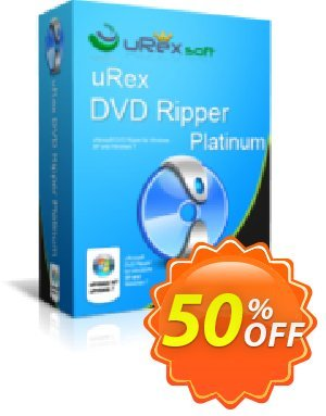 uRex DVD Ripper Platinum + Free Gift discount coupon 50% Off - wonderful deals code of uRex DVD Ripper Platinum + Free Gift 2020