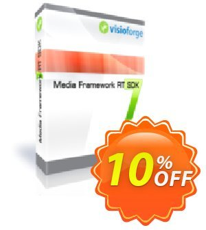 Media Framework RT SDK - One Developer Coupon, discount 10%. Promotion: awful discount code of Media Framework RT SDK - One Developer 2019