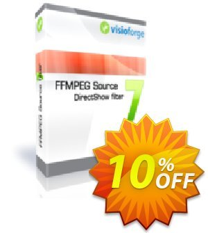 FFMPEG Source DirectShow filter - One Developer Coupon, discount 10%. Promotion: impressive discount code of FFMPEG Source DirectShow filter - One Developer 2020