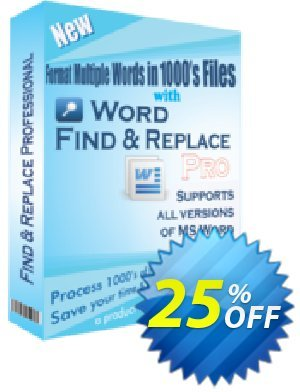Word Find and Replace Professional Coupon, discount 25% OFF. Promotion: fearsome discount code of Word Find and Replace Professional 2019