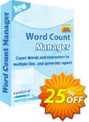 Word Count Manager Coupon, discount 25% OFF. Promotion: awful discounts code of Word Count Manager 2019