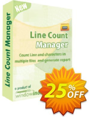 Line Count Manager Coupon, discount 25% OFF. Promotion: exclusive deals code of Line Count Manager 2019