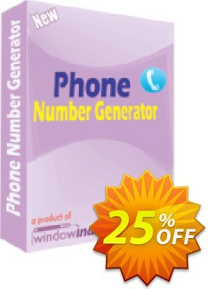 Phone Number Generator Coupon, discount 25% OFF. Promotion: stirring discounts code of Phone Number Generator 2019