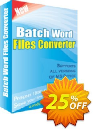Batch Word Files Converter Coupon, discount 25% OFF. Promotion: awesome discounts code of Batch Word Files Converter 2019