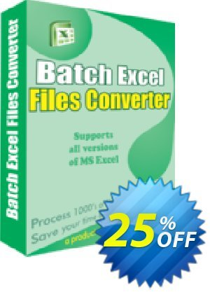 Batch Excel Files Converter Coupon, discount 25% OFF. Promotion: amazing deals code of Batch Excel Files Converter 2019