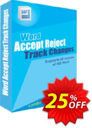 Accept Reject Track Changes Coupon, discount 25% OFF. Promotion: best discount code of Accept Reject Track Changes 2019