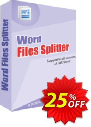Word Files Splitter Coupon, discount 25% OFF. Promotion: formidable discount code of Word Files Splitter 2019