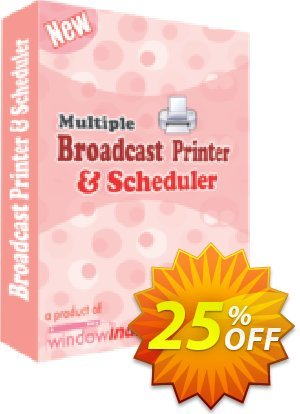 Multiple Broadcast Printer N Scheduler Coupon, discount 25% OFF. Promotion: imposing promo code of Multiple Broadcast Printer N Scheduler 2019