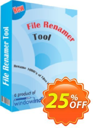 File Renamer Tool Coupon, discount 25% OFF. Promotion: wondrous deals code of File Renamer Tool 2019