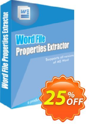 WindowIndia Word File Properties Extractor discount coupon Christmas OFF - imposing promo code of Word File Properties Extractor 2020