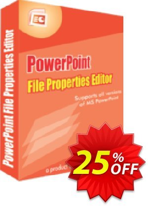 PowerPoint File Properties Editor Coupon, discount 25% OFF. Promotion: amazing deals code of PowerPoint File Properties Editor 2019