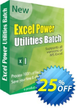 Excel Power Utilities Coupon, discount 25% OFF. Promotion: best offer code of Excel Power Utilities 2019