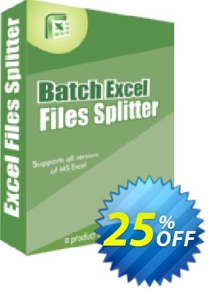 Batch Excel Files Splitter Coupon, discount 25% OFF. Promotion: best offer code of Batch Excel Files Splitter 2019