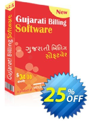 Gujarati Billing Software Coupon, discount 25% OFF. Promotion: staggering discounts code of Gujarati Billing Software 2019