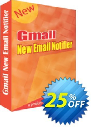 Gmail New Email Notifier Coupon, discount 25% OFF. Promotion: marvelous promotions code of Gmail New Email Notifier 2019