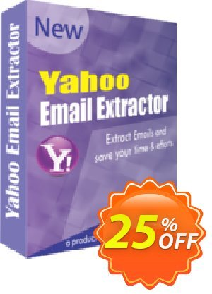 Yahoo Email Extractor Coupon, discount 25% OFF. Promotion: formidable discount code of Yahoo Email Extractor 2019