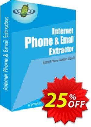 Internet Phone and Email Extractor Coupon, discount 25% OFF. Promotion: awesome promotions code of Internet Phone and Email Extractor 2019
