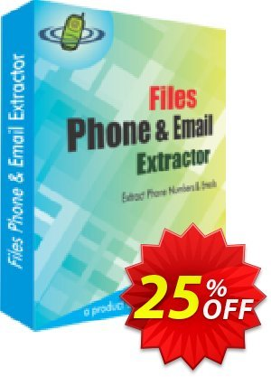 Files Phone and Email Extractor Coupon, discount 25% OFF. Promotion: excellent deals code of Files Phone and Email Extractor 2019