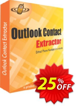 Outlook Contact Extractor Coupon, discount 25% OFF. Promotion: stunning sales code of Outlook Contact Extractor 2019
