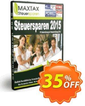 MAXTAX Steuersparen 2015 Coupon, discount NEUKUNDEN-AKTION 2015. Promotion: excellent sales code of MAXTAX Steuersparen 2015 2021