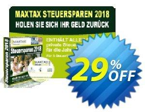 MAXTAX Steuersparen 2018 Standard Spar-Abonnement discount coupon MAXTAX SPAR-ABO - super promotions code of MAXTAX Steuersparen 2020 Standard Spar-Abonnement  2020