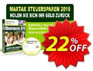 MAXTAX Steuersparen 2016 DELUXE discount coupon MAXTAX-Spar-ABO - best sales code of MAXTAX Steuersparen 2016 DELUXE 2020