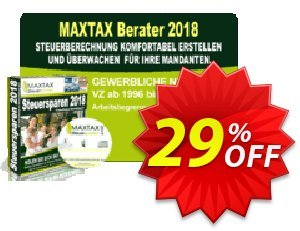 MAXTAX - Beraterversion 5 Akten Coupon, discount MAXTAX SPAR-ABO. Promotion: impressive promo code of MAXTAX - Beraterversion 5 Akten 2020