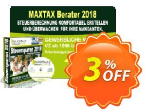 MAXTAX - Beraterversion 100 Akten Coupon, discount MAXTAX SPAR-ABO. Promotion: marvelous offer code of MAXTAX - Beraterversion 100 Akten 2020