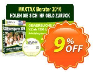 MAXTAX - Beraterversion 100 Akten - Neukunden Coupon discount MAXTAX SPAR-ABO. Promotion: wondrous discount code of MAXTAX - Beraterversion 100 Akten - Neukunden 2019