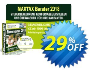 MAXTAX - Beraterversion 2018 - 5 Akten Coupon, discount MAXTAX SPAR-ABO. Promotion: awful deals code of MAXTAX - Beraterversion 2021 - 5 Akten 2021