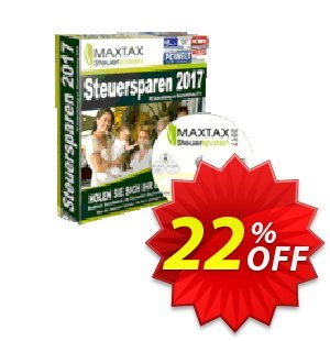 MAXTAX Steuersparen 2017 DELUXE Coupon, discount MAXTAX SPAR-ABO. Promotion: impressive deals code of MAXTAX Steuersparen 2017 DELUXE 2019