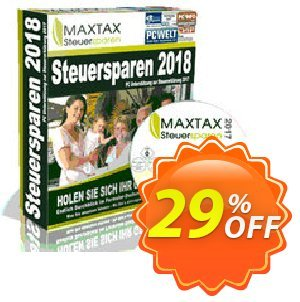 MAXTAX Steuersparen 2018 Standard Coupon, discount MAXTAX SPAR-ABO. Promotion: dreaded promo code of MAXTAX Steuersparen 2018 Standard 2019