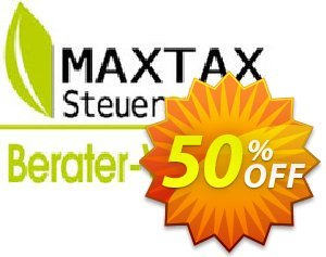 MAXTAX - Beraterversion Nachlizensierung discount coupon MAXTAX-Spar-ABO - amazing discount code of MAXTAX - Beraterversion Nachlizensierung 2021