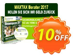 MAXTAX - Beraterversion 2018 - 25 Akten Coupon, discount MAXTAX SPAR-ABO. Promotion: hottest sales code of MAXTAX - Beraterversion 2021 - 25 Akten 2021