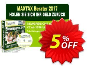 MAXTAX - Beraterversion 2017 - 50 Akten Coupon, discount MAXTAX SPAR-ABO. Promotion: dreaded promotions code of MAXTAX - Beraterversion 2017 - 50 Akten 2021