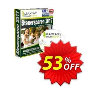 MAXTAX Steuersparen 2017 Starter-SPAR-ABO Coupon, discount MAXTAX SPAR-ABO. Promotion: imposing discount code of MAXTAX Steuersparen 2017 Starter-SPAR-ABO 2020