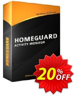 HomeGuard Activity Monitor Coupon discount 20% off, one month. Promotion: awesome offer code of HomeGuard Activity Monitor 2020