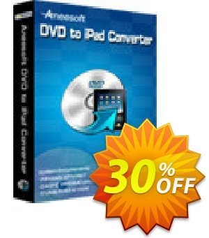 Aneesoft DVD to iPad Converter Coupon, discount Aneesoft DVD to iPad Converter big discount code 2021. Promotion: big discount code of Aneesoft DVD to iPad Converter 2021
