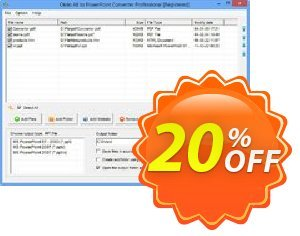 Okdo All to PowerPoint Converter Professional Coupon, discount Okdo All to PowerPoint Converter Professional big sales code 2020. Promotion: big sales code of Okdo All to PowerPoint Converter Professional 2020