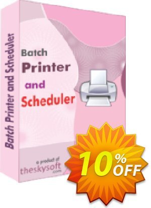 TheSkySoft Batch Printer and Scheduler Coupon, discount 10%Discount. Promotion: excellent promo code of Batch Printer and Scheduler 2020