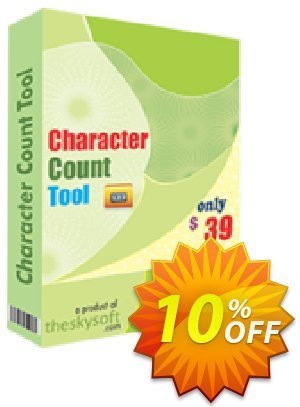 TheSkySoft Character Count Tool Coupon, discount 10%Discount. Promotion: amazing offer code of Character Count Tool 2020