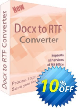 TheSkySoft DOCX TO RTF Converter Coupon, discount 10%Discount. Promotion: super discount code of DOCX TO RTF Converter 2021