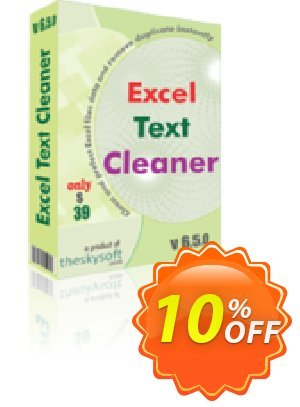 TheSkySoft Excel Text Cleaner Coupon, discount 10%Discount. Promotion: big discounts code of Excel Text Cleaner 2020