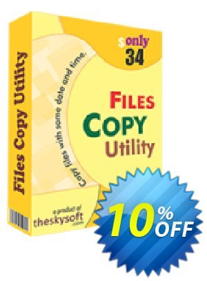 TheSkySoft File Copy Utility Coupon, discount 10%Discount. Promotion: exclusive deals code of File Copy Utility 2020