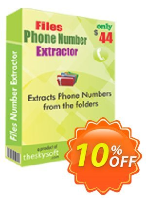 TheSkySoft Files Phone Number Extractor Coupon, discount 10%Discount. Promotion: wonderful discount code of Files Phone Number Extractor 2020