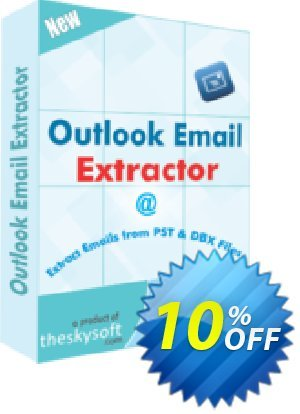 TheSkySoft Outlook Email Extractor Coupon, discount 10%Discount. Promotion: stirring deals code of Outlook Email Extractor 2021