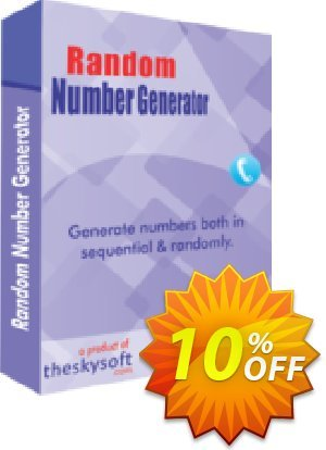 TheSkySoft Random Number Generator Coupon, discount 10%Discount. Promotion: fearsome promo code of Random Number Generator 2020