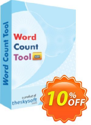 TheSkySoft Word Count Tool Coupon, discount 10%Discount. Promotion: marvelous sales code of Word Count Tool 2020